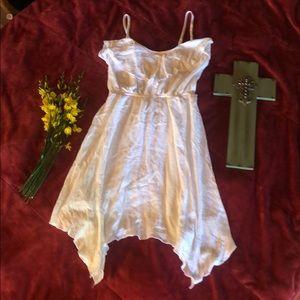 Fun spring/summer white poly/cotton dress